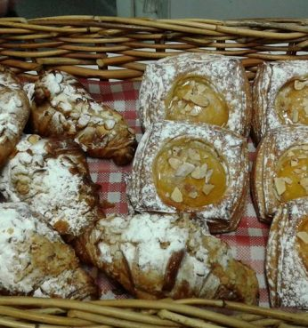 pastry pear danish almond croissant
